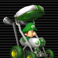 Baby Luigi's <b>Booster Seat</b>.