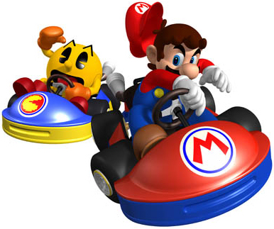 File:Mario vs. Pac-man in Mario Kart GP..jpg
