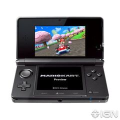 Mario Circuit being shown on the 3DS.