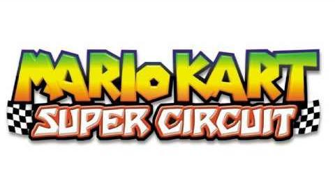 Mario Kart Super Circuit SNES Rainbow Road