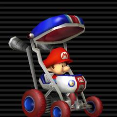 Baby Mario's <b>Booster Seat</b>.