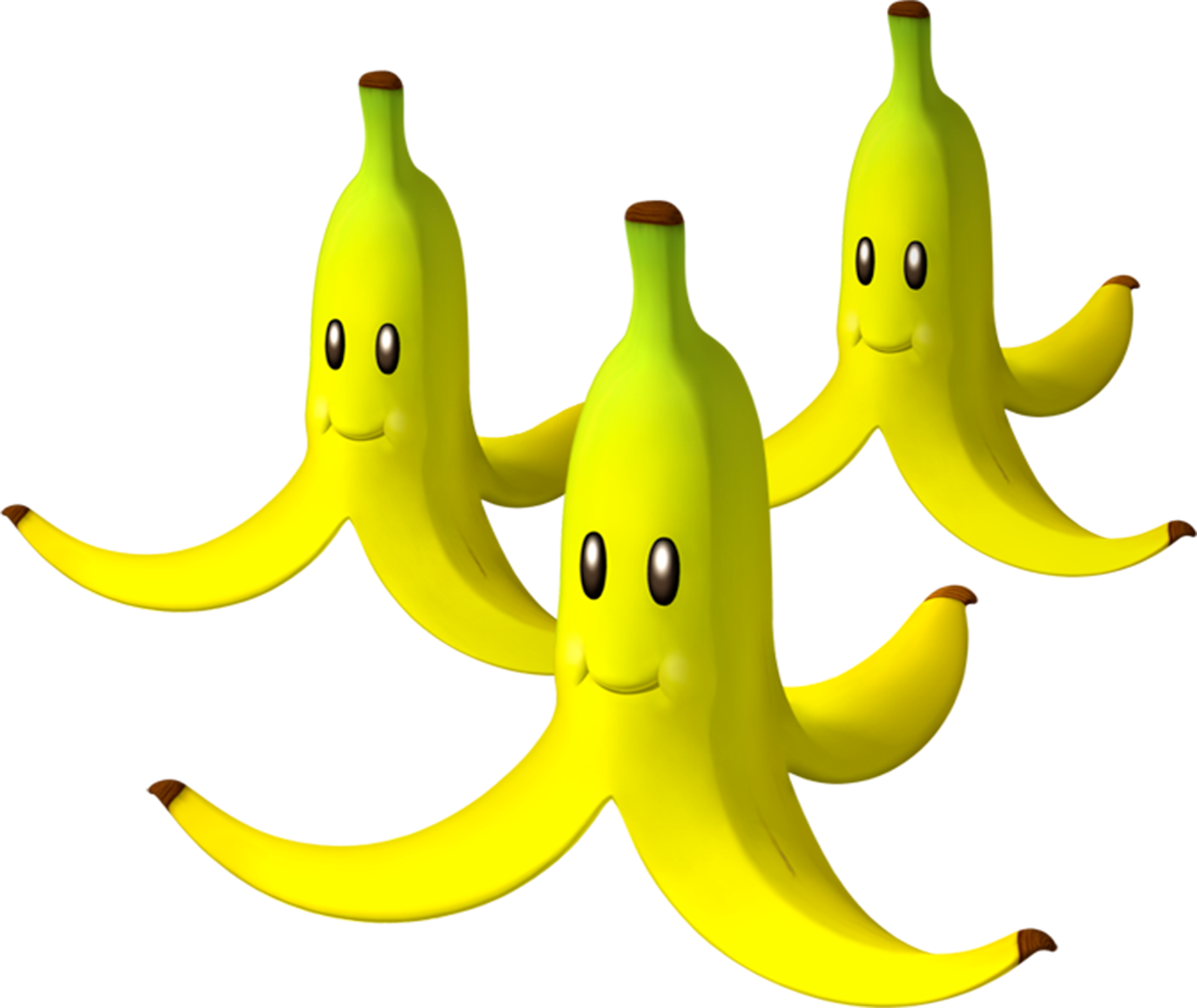 File:Triple Bananas Artwork - Mario Kart Wii.png