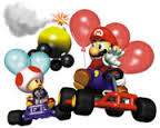 Mini Bomb Kart near Mario & Toad