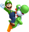 100px-Luigi and Yoshi Artwork - New Super Luigi U