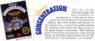 Classic Concentration NES Title