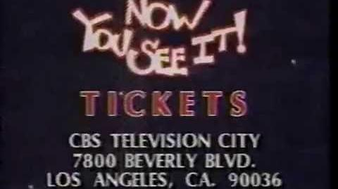 Now You See It ticket plug, 1989