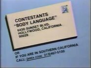 Body Language Contestant Plug 1984