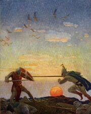 Boys King Arthur - N. C. Wyeth - p306