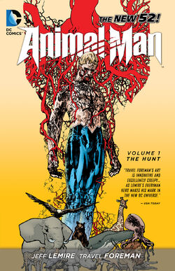 Cover for the Animal Man: The Hunt Trade Paperback