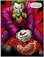 Psimon's death by the Joker.