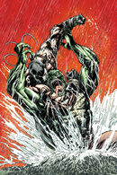 Croc and Bane fight during the Arkham War.