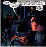 Alfred feeds the bats.