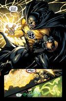 Batman puts on the Sinestro Corps ring