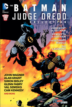 Cover for the Batman/Judge Dredd Collection Trade Paperback