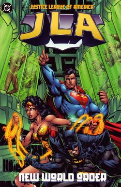 Cover for the JLA: New World Order Trade Paperback