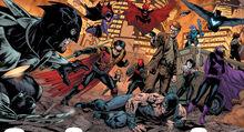 Batman's allies ralley around him.