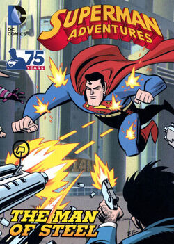 Cover for the Superman Adventures: The Man of Steel 2013 Trade Paperback