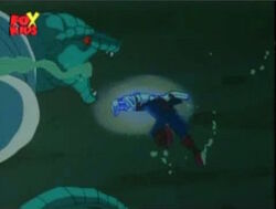 Lizard Follows Spider-Man Underwater