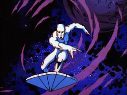 Silver Surfer Remembers Flight Through Asteroids