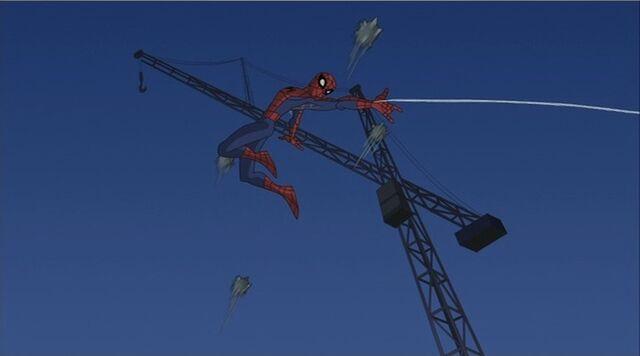 File:Spider-Man Dodges Spikes SSM.jpg