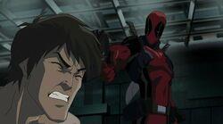 Deadpool Threatens Bruce HV