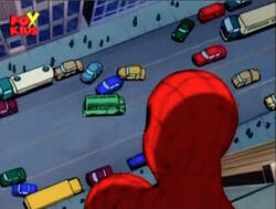 Spider-Man Spots Sewer Van
