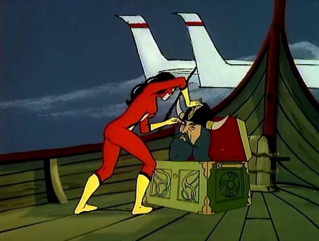File:Spider-Woman vs Valhammer.jpg
