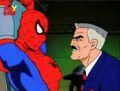 Jameson Nears Captured Spider-Man.jpg