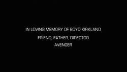 Boyd Kirkland Dedication