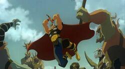 Thor fights Trolls HV