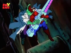 Lizard Tackles Spider-Man