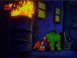 Hulk Arm Around Homeless