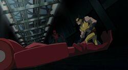 Wolverine Slices Deadpool HV