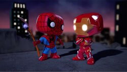 Spider-Man Questions Iron Man Stare SBD