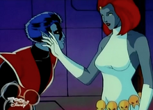 Mystique talks to Nightcrawler