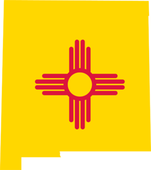 New mexico flag map