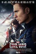 Captain America Civil War Team Cap poster