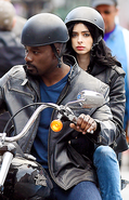 Jessica Jones Luke Cage set photo 1