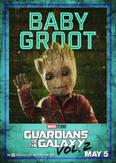 Groot GOTG2 Poster