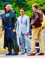 The Avengers Behind the Scenes photos 4