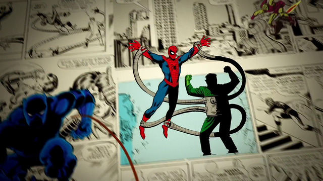 File:Spider-Man vs Doc Ock feat. Black Panther (75 Years).png