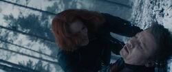 BlackWidow-saves-Hawkeye-snow