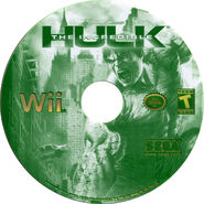 Hulk wii us disc