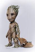 Baby Groot concept art 3