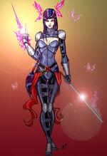 Psylocke redesign by crimsonsea-d36y666