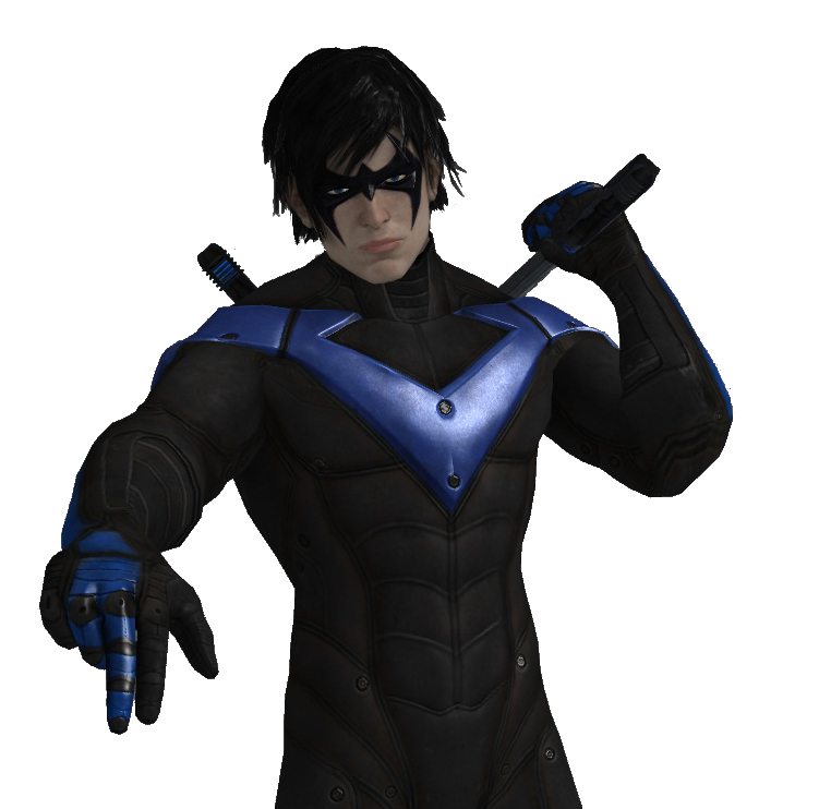 how to draw nightwing full body