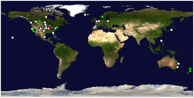 Blog visitors location map