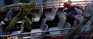 Lizard vs Spider-Man on the bus