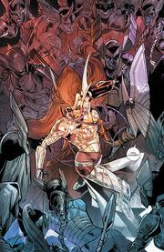 Dísir (Earth-616) vs. Aldrif Odinsdottir (Earth-616) from Angela Asgard's Assassin Vol 1 4 001