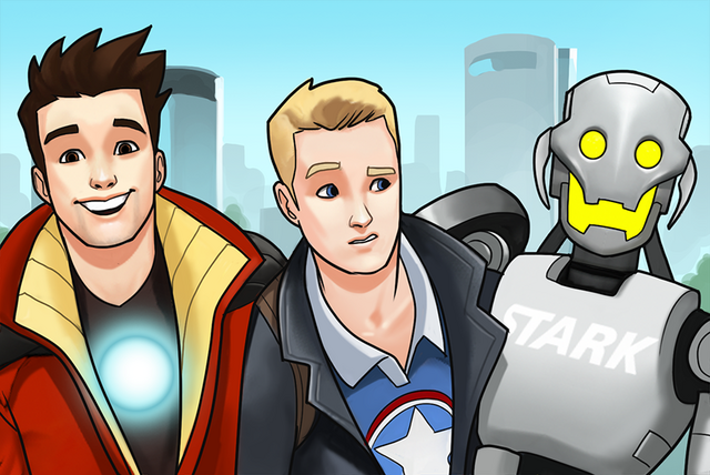 File:Ultron (Earth-TRN562), Anthony Stark (Earth-TRN562) and Steven Rogers (Earth-TRN562) from Marvel Avengers Academy 001.png